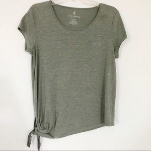 Juicy Couture   green glitter knot tee